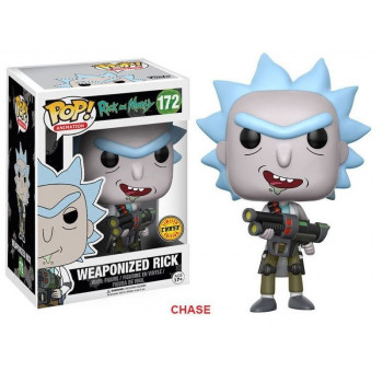 POP! 172 WEAPONIZED RICK (CHASE). RICK Y MORTY