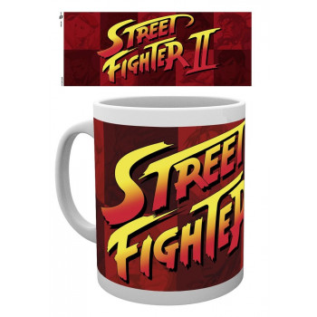 TAZA LOGO. STREET FIGHTER II