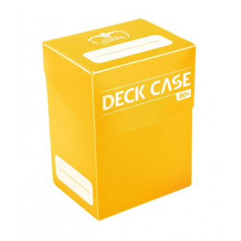 YELLOW DECK CASE 80+ CAJA DE CARTAS TAMAÑO ESTANDAR AMARILLA ULTIMATE GUARD