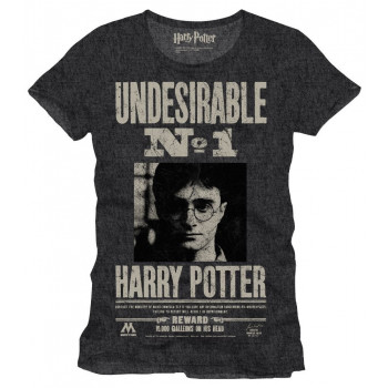 CAMISETA TALLA M. UNDESIRABLE Nº1. HARRY POTTER