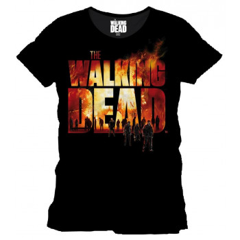 CAMISETA TALLA L. LOGO ARDIENDO. THE WALKING DEAD
