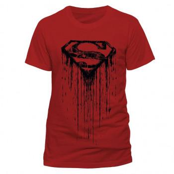 CAMISETA TALLA L. SIMBOLO GOTEANDO. SUPERMAN