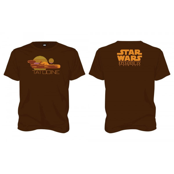 CAMISETA TALLA M. TATOOINE MARRON. STAR WARS