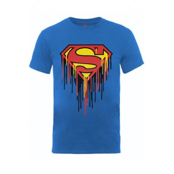 CAMISETA TALLA M. SUPERMAN DRIP LOGO . DC COMICS
