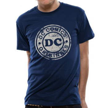 CAMISETA TALLA M. LOGO DISTRESSED. DC COMICS