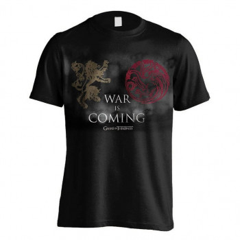 CAMISETA TALLA L. WAR IS COMING. JUEGO DE TRONOS