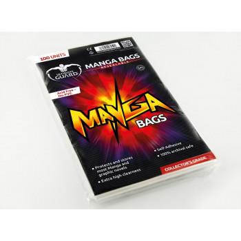 FUNDAS PARA COMICS CON CIERRE REUTILIZABLE TAMAÑO MANGA 15x21,8cm (100 UNIDADES). ULTIMATE GUARD