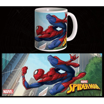 TAZA SPIDERMAN SALTANDO....