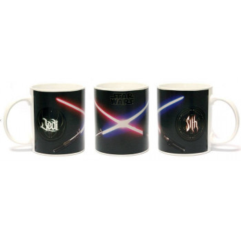TAZA SENSITIVA AL CALOR SABLES JEDI & SITH. STAR WARS