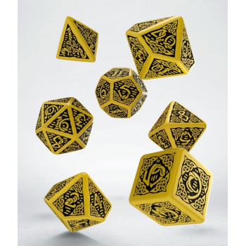 SET 7 DADOS CELTIC AMARILLO/NEGRO