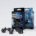 SET 7 DADOS CLASSIC RPG NEGRO/BLANCO
