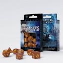 SET 7 DADOS CLASSIC RPG CARAMELO/AMARILLO