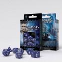 SET 7 DADOS CLASSIC RPG COBALTO/BLANCO