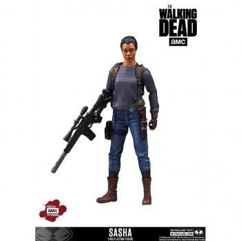FIGURA SASHA 13cm. THE WALKING DEAD TV