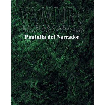 VAMPIRO: LA MASCARADA 20º ANIVERSARIO - PANTALLA DEL NARRADOR