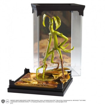 ESTATUA BOWTRUCKLE MAGICAL CREATURES. ANIMALES FANTASTICOS