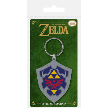 LLAVERO HYLIAN ESCUDO 6cm CAUCHO. THE LEGEND OF ZELDA