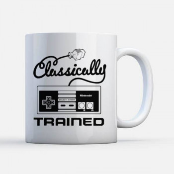 TAZA CLASICALLY TRAINED NES. NINTENDO