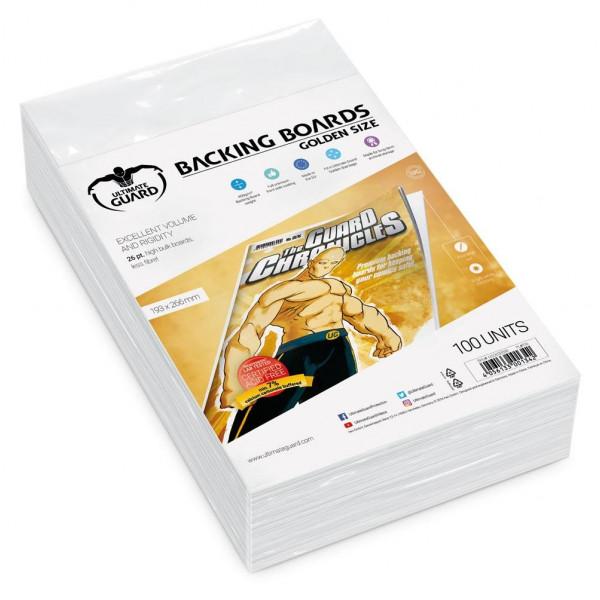 CARTONES BACKING BOARDS TAMAÑO GOLDEN FREE ACID (100 UNIDADES). ULTIMATE GUARD