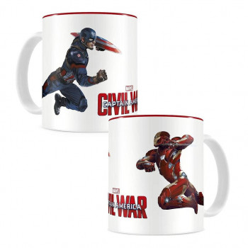 TAZA IRON MAN VS CAPITAN AMERICA. CAPITAN AMERICA CIVIL WAR
