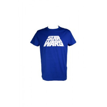 CAMISETA TALLA M. LOGO STAR WARS AZUL VHS. STAR WARS