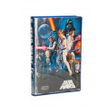 CAMISETA TALLA M. LOGO STAR WARS AZUL VHS. STAR WARS
