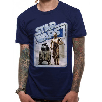 CAMISETA TALLA L. DROIDES RETRO. STAR WARS