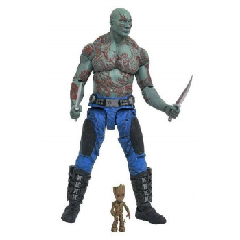 FIGURAS DRAX & BABY GROOT MARVEL SELECT 18cm. GUARDIANES DE LA GALAXIA VOL.2