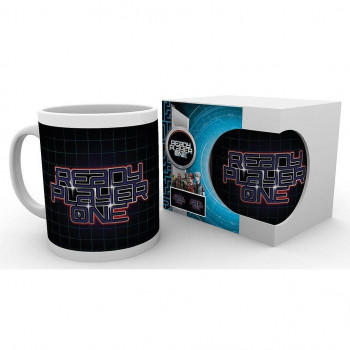 TAZA LOGO. READY PLAYER ONE