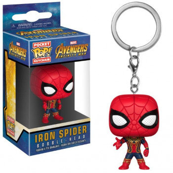 POCKET POP! LLAVERO IRON SPIDER. AVENGERS INFINITY WAR