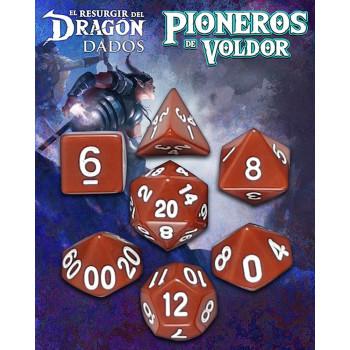 SET DE 7 DADOS MARRON SHABANA - PIONEROS DE VOLDOR (EL RESURGIR DEL DRAGON)