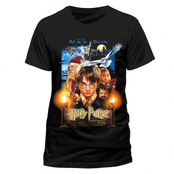 CAMISETA TALLA L. CARTEL PIEDRA FILOSOFAL. HARRY POTTER