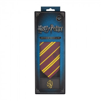 SET DELUXE CORBATA & PIN GRYFFINDOR. HARRY POTTER
