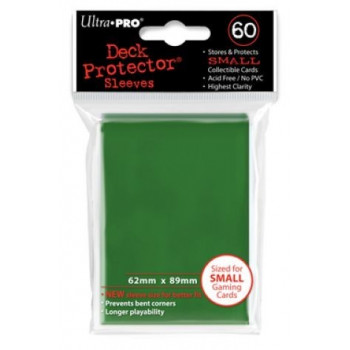 FUNDAS CARTAS ULTRA PRO GREEN (VERDE) 62x89 (60)