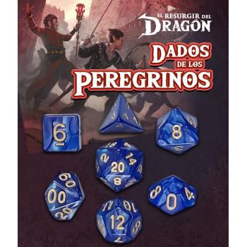 SET DE 7 DADOS AZUL ARASTU - DADOS DE LOS PEREGRINOS (EL RESURGIR DEL DRAGON)