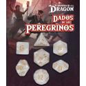 SET DE 7 DADOS BLANCO AHURAZ - DADOS DE LOS PEREGRINOS (EL RESURGIR DEL DRAGON)