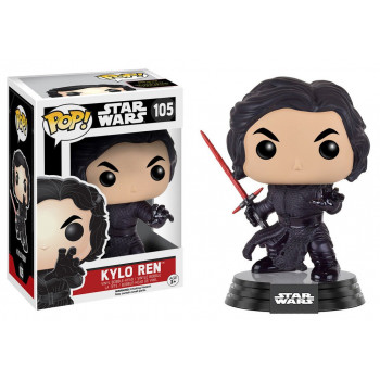 FUNKO POP! 105 KYLO REN (BATTLE POSE). STAR WARS