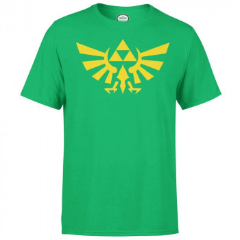 CAMISETA TALLA M. HYRULE ESCUDO VERDE. THE LEGEND OF ZELDA