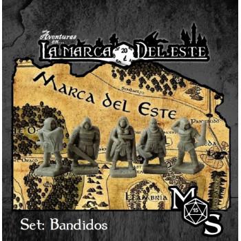 SET MINIATURAS BANDIDOS - AVENTURAS EN LA MARCA DEL ESTE