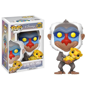 FUNKO POP! 301 RAFIKI WITH SIMBA. EL REY LEON DISNEY