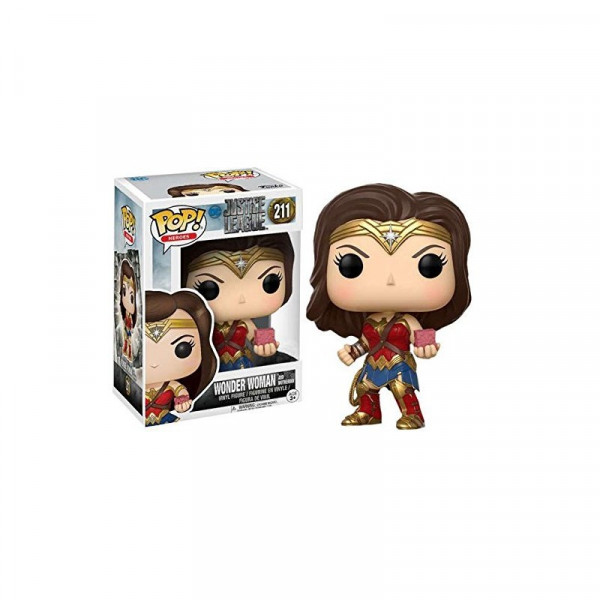 FUNKO POP! 211 WONDER WOMAN WITH MOTHER BOX. JUSTICE LEAGUE