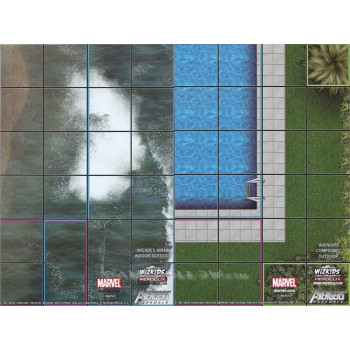 MAPA AVENGERS ASSEMBLE: ARCADE'S ARENA / AVENGERS COMPOUND - HEROCLIX (LIMITADO)