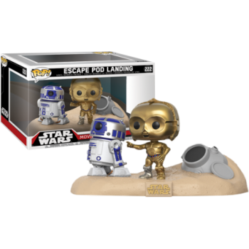 FUNKO POP! MOVIE MOMENTS  ESCAPE POD LANDING R2-D2 & C-3PO. STAR WARS
