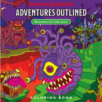 ADVENTURED OUTLINED - COLORING BOOK (LIBRO PARA COLOREAR): DUNGEONS & DRAGONS