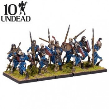 10 MINIATURAS UNDEAD SKELETON TROOP - KINGS OF WAR