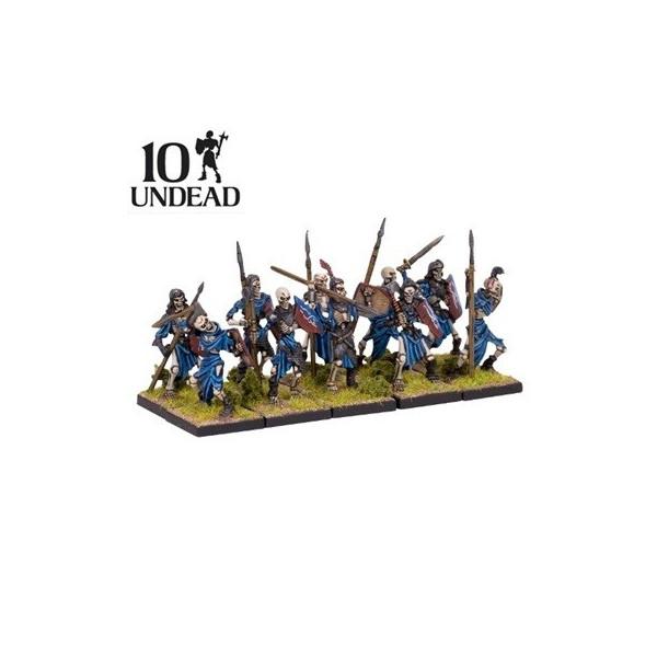 10 MINIATURAS UNDEAD SKELETON TROOP - KINGS OF WAR
