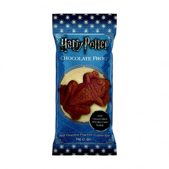 RANA DE CHOCOLATE CON CARTA LENTICULAR DE MAGO 15gr. HARRY POTTER