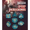 SET DE 7 DADOS CIAN DEKAELER - DADOS DE LOS PEREGRINOS (EL RESURGIR DEL DRAGON)