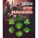 SET DE 7 DADOS ESMERALDA WAROUI - DADOS DE LOS PEREGRINOS (EL RESURGIR DEL DRAGON)