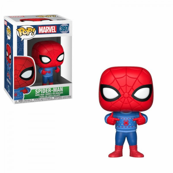 FUNKO POP! 397 SPIDER-MAN (UGLY SWEATER). MARVEL